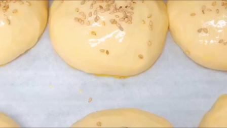 自制汉堡胚,这样做里面不加东西都好吃,以后也不需要去外面买了
