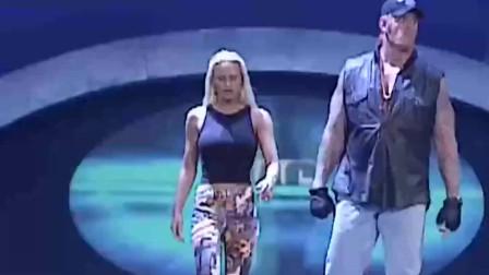 wwe送葬者2012 WWE 送葬者罕见与妻子一同出现 出场动作神同步 太霸气了