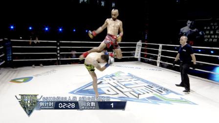 30秒KO!GLORY排名第三雄狮艾尼瓦尔上演腾空飞膝KO格鲁吉亚拳王