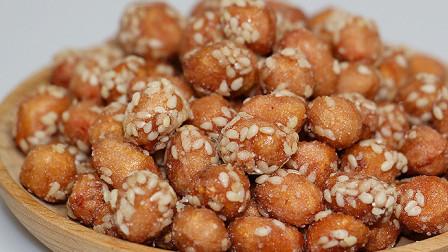 """教你做口感香脆的零食""""挂霜花生米""""讲解详细做法简单,营养健康"""