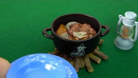 迷你小厨房:柴火烧的菜更美味,你吃过柴火烧的菜吗?
