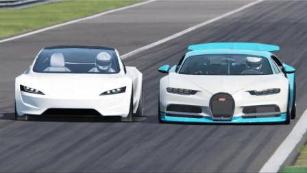 特斯拉仅仅是电动车,为什么能卖上百万?看它和布加迪赛跑就知道了