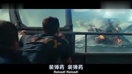 超级战舰:两艘战舰海面炮轰,全程特效,看的热血沸腾!