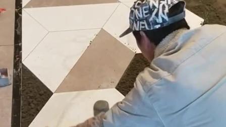 六边形瓷砖铺贴造型,视觉就非常的精美,这才是高手!