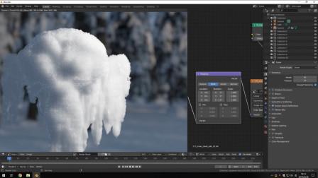 雪的实时材质制作流程演示