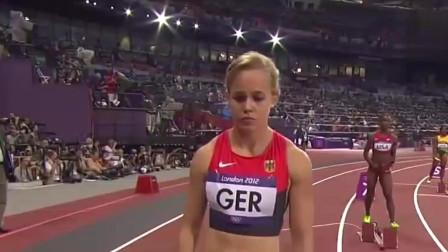 伦敦奥运会美国打破女子4x100米接力世界纪录