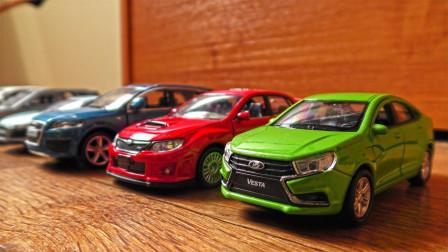 彩色汽车轿车跑车玩具展示