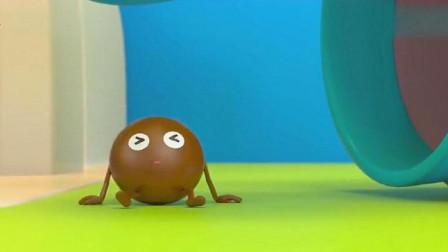 五颗巧克力豆要去游泳!最后怎么都变成彩虹糖了?快来看看吧
