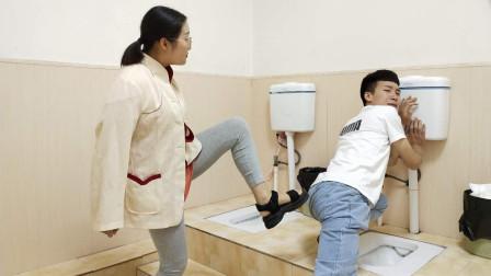 董事长冲厕所,被女友嫌弃踹进马桶,秘书赶来后女友悔不当初