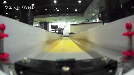 轨道四驱车慢动作第一视觉拍摄 田宫模型赛道