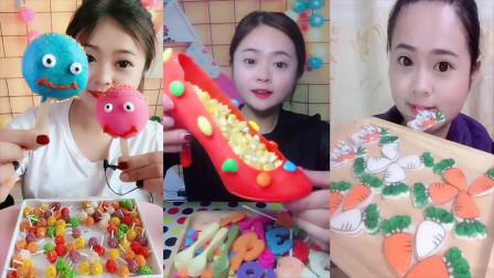 美女直播吃怪异棒棒糖,各种口味任意选,是我童年向往的生活