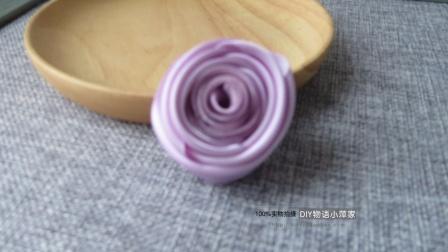 编号322【DIY物语小萍家】双面丝带3.8宽双色玫瑰花苞