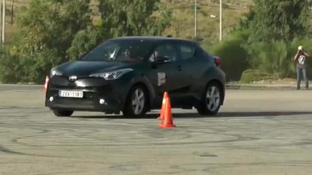 新款丰田C-HR的操控竟是这样?麋鹿测试你看懂了吗?