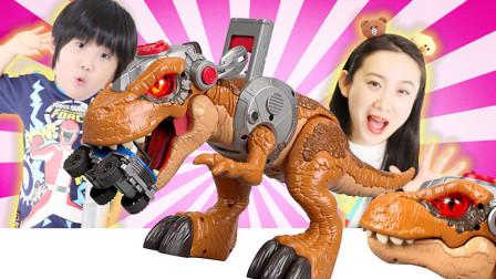 侏罗纪世界2超大恐龙霸王龙塔台玩具拆箱