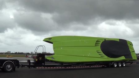 世界上最牛的改装?小哥把兰博基尼汽车,改装成了一艘超酷快艇
