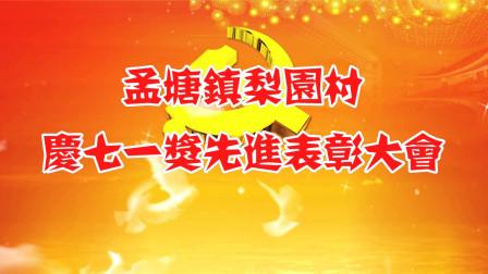 孟塘镇梨园村2019年庆七一奖先进表彰大会