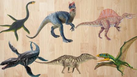 认识双冠龙等6种史前恐龙,乐宝识动物