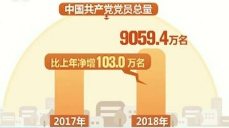 2018年中国共产党党内统计公报:中国共产党党员总量突破9000万 每日新闻报 20190701 高清版