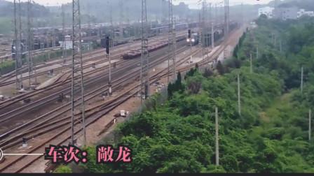 铁路随拍:广铁株段HXD1C 6119敞车大列,捞刀河站下行通过