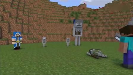 我的世界MC动画-史蒂夫好可怜被小骷髅们暴打,皇室战争格斗训练课
