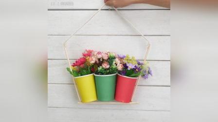 自己DIY的纸杯花盆, 低碳环保又美观