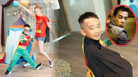 陈小春儿子过6岁生日变身少年泰坦,回眸一笑好似少年版山鸡哥