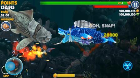 饥饿鲨进化:哥斯拉鲨鱼大战沧龙邓氏鱼
