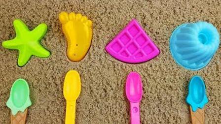 黏土创意DIY海星脚丫蛋糕蛋挞,早教色彩认知萌宝识颜色与数字1-8