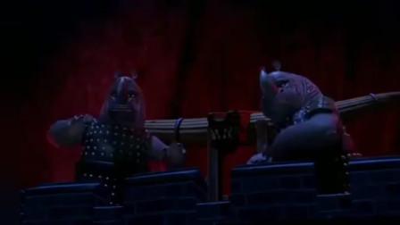 功夫熊猫:大龙好厉害,用一根羽毛就开了锁,成功越狱!
