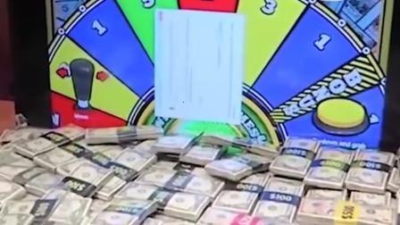 真的有夹钱机!箱中成百上万纸币,只要有本事全都是你的