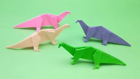 小朋友最喜欢的恐龙折纸,家长带娃做起来,简单又益智的手工DIY