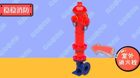 【3D模型】稳稳消防工程师室外地上式消火栓栓口连接方式动画讲解