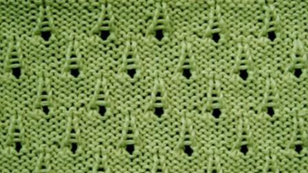 棒针花样系列,一款水滴针编织教程,特别喜欢这种小清新的花样!