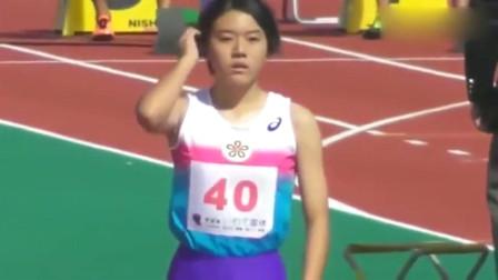 初中生田径跳远比赛,女汉子格外瞩目,身材还挺不错!