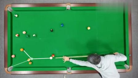 台球教学:一杆清台打法,开球之后的局面,决定清台的难度系数