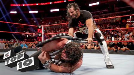 WWE十大奇袭 奥斯丁假扮医生偷袭老麦 毒蛇兰迪奥顿从蛋糕里蹦出