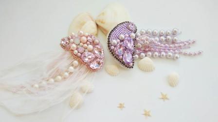手工diy教你如何制作一只珠绣水母教程