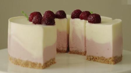 「烘焙教程」覆盆子芝士蛋糕,附上新鲜草莓非常棒哦