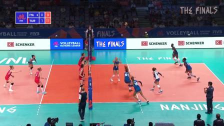 2019世界女排联赛总决赛小组赛集锦 土耳其3-0击败意大利