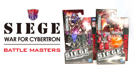 KL變形金剛玩具分享458 Siege Battle Masters CALIBURST\SMASHDOWN