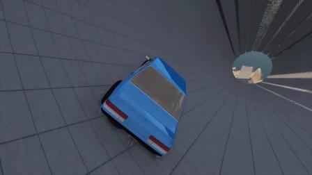BeamNG汽车模拟:跑车高速跳跃