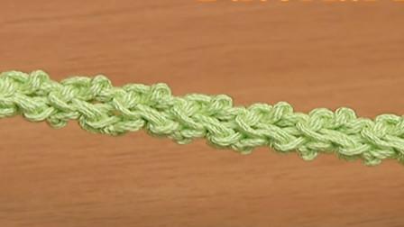 钩针花绳系列,一款花式细麻辫教程,做成包带或手机链真的很好看