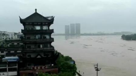 新闻30分 2019 浙江兰溪:兰江水位上涨迅猛 现超警戒水位