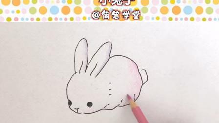 超级简单又可爱的小白兔子简笔画画法步骤,画小动物简笔画步骤介绍