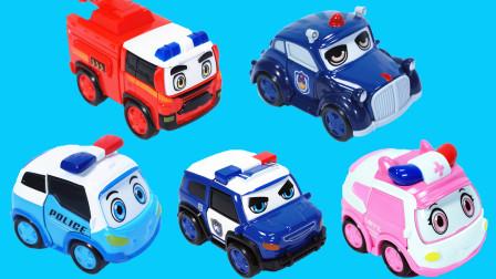 警车联盟的变形汽车玩具