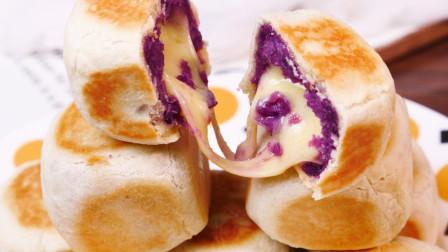 一口平底锅就能搞定的网红美食 紫薯仙豆糕 小仙女们的最爱