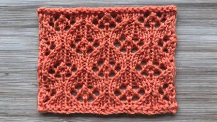 镂空8字花,弧线圆滑优美,简洁精致,织围巾织盖毯都不错编织方法视频