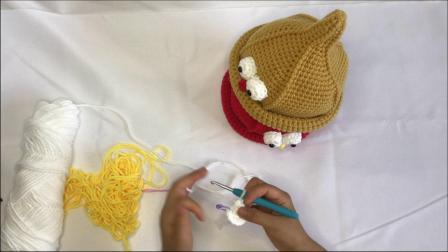 绒尚手工-奶嘴帽巫师帽尖尖帽宝宝毛线帽子钩针编织视频教程如何钩织