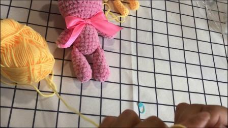 绒尚手工-金丝绒暴力熊钩针编织教程编织教程与图解