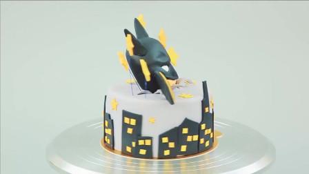 蝙蝠侠翻糖亲子早教蛋糕DIY翻糖达人展现神奇制作功力